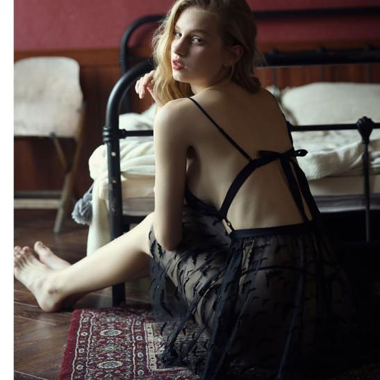 Váy ngủ xuyên thấu cao cấp kèm quần lót nữ đẹp nhất - Ảnh 3