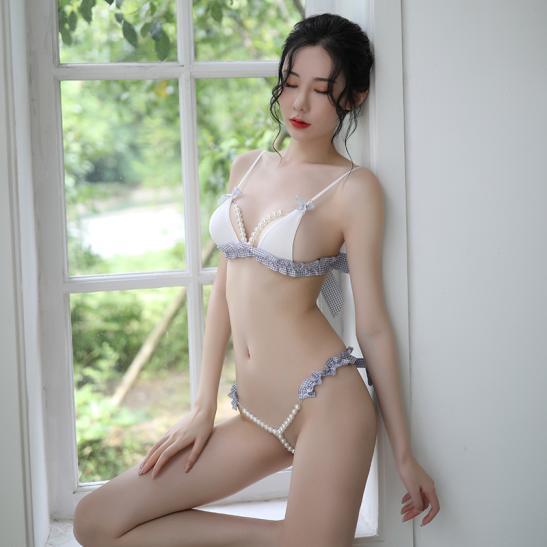 Quần lót nữ gợi dục gồm Áo lót chuỗi hạt sexy - Ảnh 1