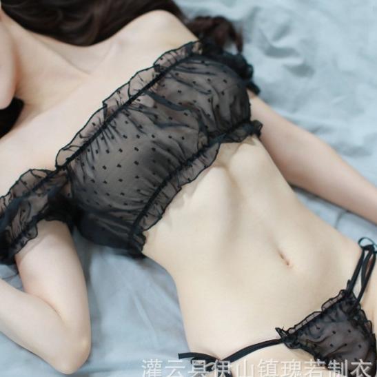 Áo ngực trong suốt cùng quần lót lọt khe nữ - Ảnh 5