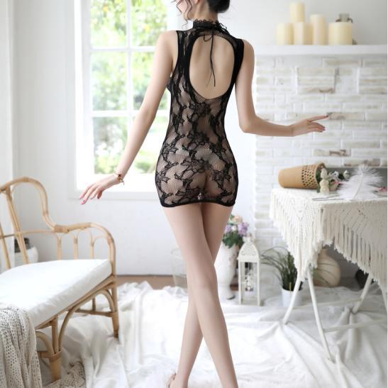 Váy ngủ ren xuyên thấu ôm body nóng bỏng - Ảnh 2
