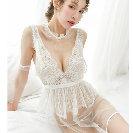 Váy ngủ quyến rũ chồng trong suốt sexy - Ảnh 3