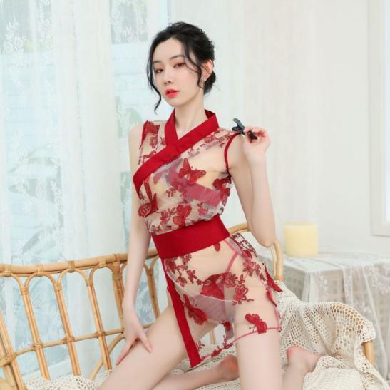 Đầm ngủ kèm quần lót nữ mỏng - Ảnh 4
