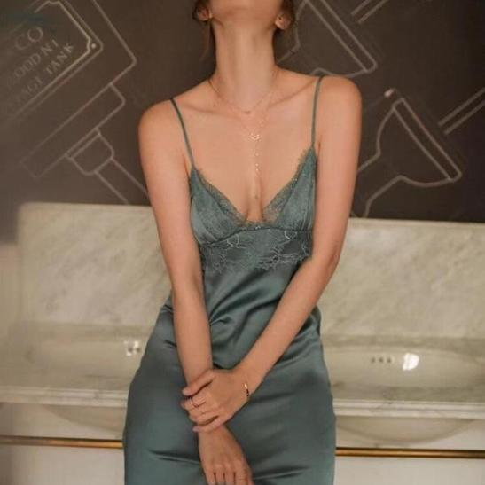 váy lụa lụa dài - Ảnh 1