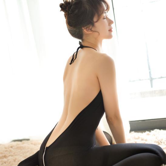 Tất ngủ dây kéo xẻ ngực sexy - Ảnh 4