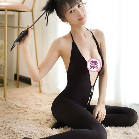 Tất ngủ dây kéo xẻ ngực sexy - Ảnh 5