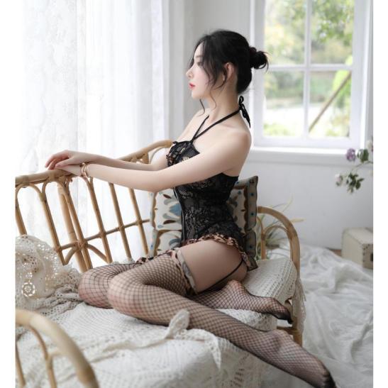 Đồ ngủ cosplay da béo kèm vớ sexy - Ảnh 6