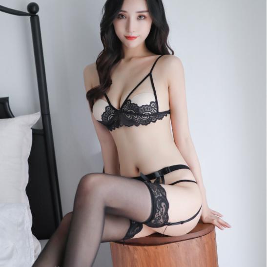 Đồ lót kẹp vớ ren hở ngực sexy - Ảnh 7