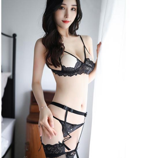 Đồ lót kẹp vớ ren hở ngực sexy - Ảnh 8
