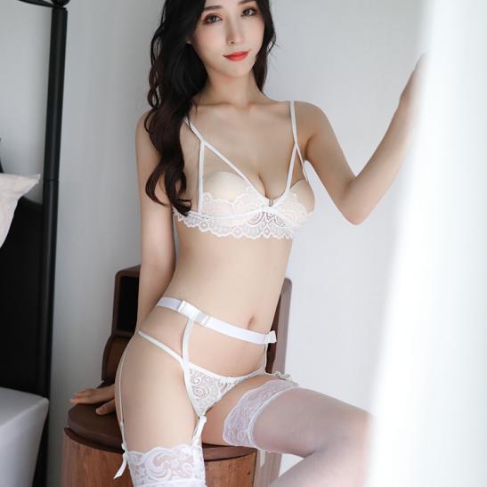Đồ lót kẹp vớ ren hở ngực sexy - Ảnh 2