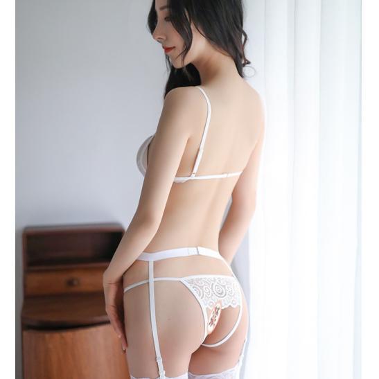 Đồ lót kẹp vớ ren hở ngực sexy - Ảnh 4