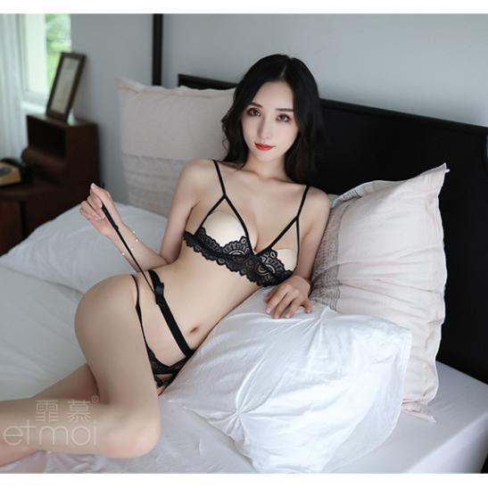 Đồ lót kẹp vớ ren hở ngực sexy - Ảnh 5