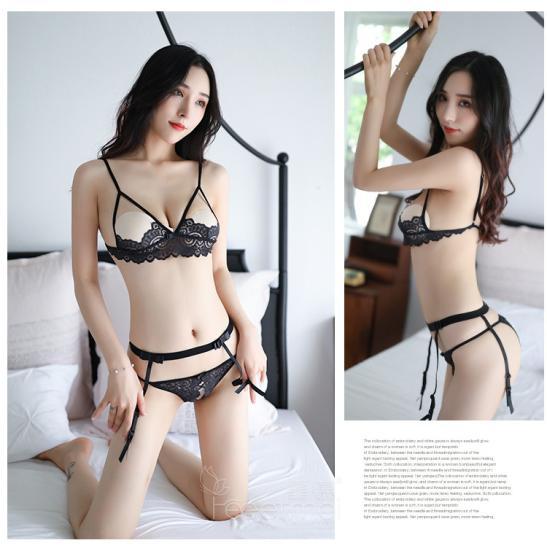 Đồ lót kẹp vớ ren hở ngực sexy - Ảnh 6