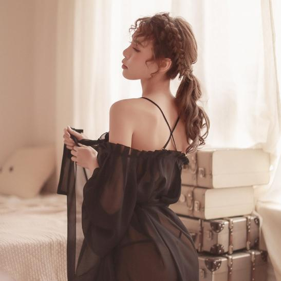 Đầm ngủ khoác trễ vai gợi cảm - Ảnh 8