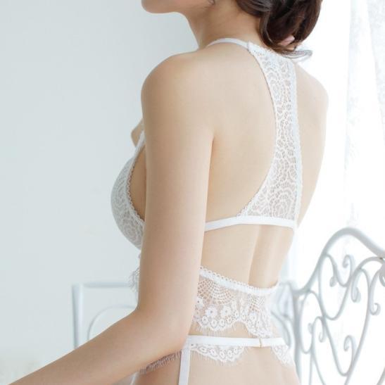 Áo nâng ngực không dây kèm quần lót nữ đẹp nhất + kẹp vớ tinh nghịch + quần tất / vớ gợi cảm - Ảnh 4