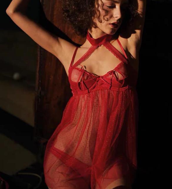 Váy ngủ chấm pi gọng cao cấp gồm quần lót nữ gợi cảm - Màu Đỏ Free size - Cuốn hút - 583761957798826590604522885795050237722624n_evaiybzm.jpg