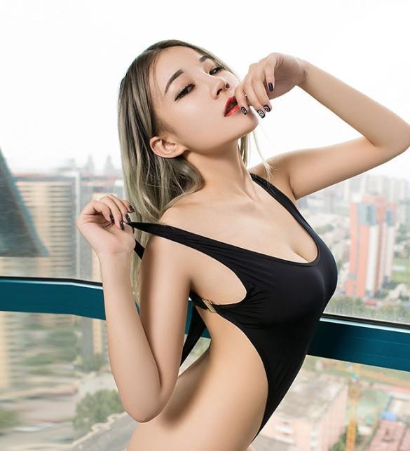 Áo ngủ liền thân bodysuit thun trơn lọt khe - Màu Đỏ, Trắng, Đen Free size - Gợi dục - ao-ngu-lien-than-bodysuit-tk2114-2.jpg