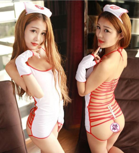 Đầm ngủ cosplay nữ y tá nóng bỏng - Màu Trắng Free size - Thiêu đốt ánh nhìn chàng ấy - tk1954-ao-ngu-cosplay-y-ta-sexy-1.jpg
