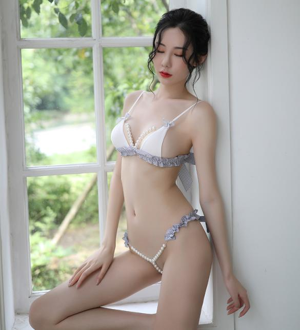 Quần lót nữ gợi dục gồm Áo lót chuỗi hạt sexy - Màu Xanh da trời nhạt Free size - Quyến rũ chết người - tk1994-do-lot-sexy-2.jpg