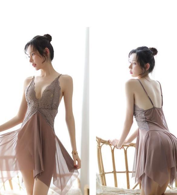 Đầm ngủ gợi cảm màu xám ruốc - Màu Xám đậm Free size - Thật gợi tình - tk1836-dam-ngu-goi-cam-1.jpg