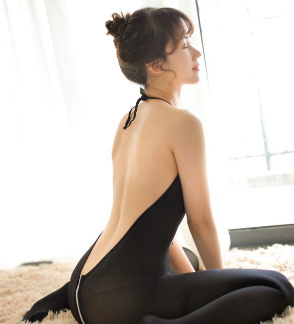 Tất ngủ dây kéo xẻ ngực sexy - Màu Đen Free size - Sexy - tk1843-do-ngu-tat-xe-nguc-sexy-1.jpg