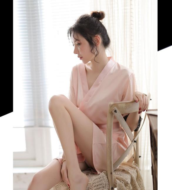 Áo choàng phi lụa phối ren gợi cảm - Màu Hồng da Free size - Cuốn hút - tk1847-ao-choang-ngu-goi-cam-4.jpg