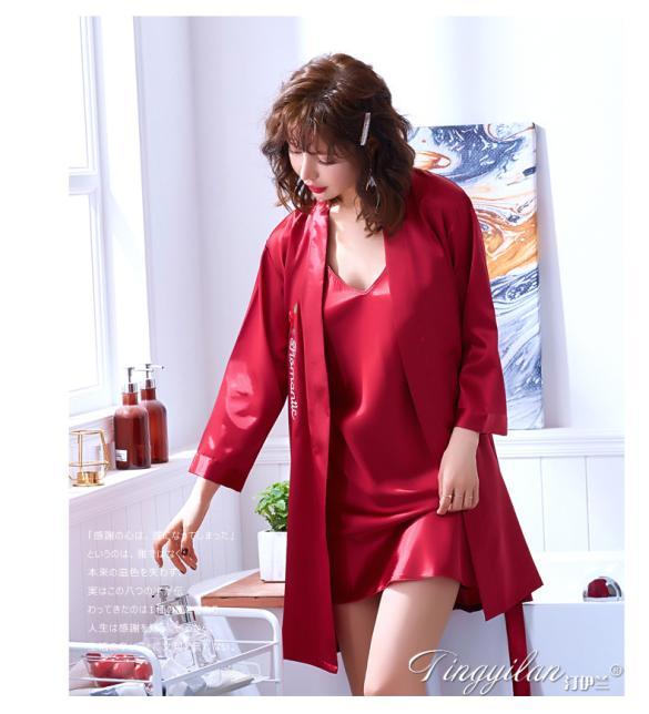 Áo choàng váy ngủ phi gợi cảm - Màu Đỏ đô, Xanh dương cỡ M - Thật gợi tình - tk1893-ao-choang-ngu-phi-goi-cam-4.jpg