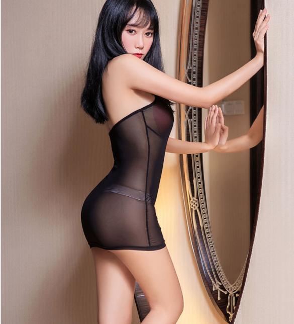 Áo ngủ yếm ren thun xuyên thấu sexy - Màu Đen Free size - Khơi dậy ham muốn - tk1902-ao-ngu-yem-om-sexy-3.jpg
